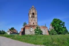 Ruínas de uma igreja gótico Fotos de Stock Royalty Free