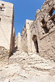 Ruínas de uma vila omanense fotografia de stock