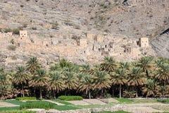 Ruínas de uma vila omanense fotos de stock royalty free