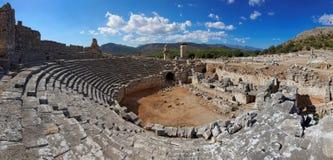 Ruínas de Xanthos, Fethiye-Kas, Turquia fotografia de stock