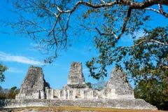 Ruínas de Xpujil, México fotografia de stock