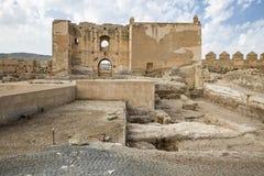 Ruínas do Alcazaba da cidade de Almeria fotos de stock royalty free