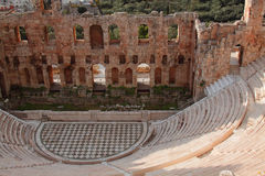Ruínas do amphitheatre antigo fotografia de stock