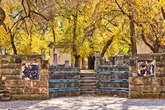 Ruínas do anfiteatro na cidade antiga Imagens de Stock Royalty Free