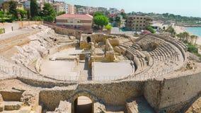Ruínas do anfiteatro, Tarragona, Costa Daurada na Espanha filme
