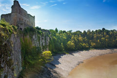 Ruínas do castel de Chepstow, fundação, 1067-1188 Fotos de Stock Royalty Free