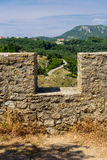 Ruínas do castelo de Angelokastro Foto de Stock Royalty Free
