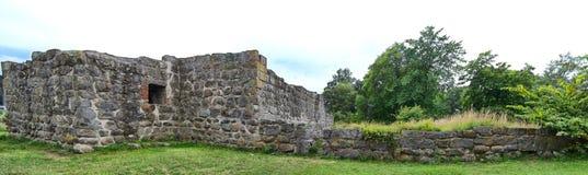 Ruínas do castelo de Aosehus foto de stock