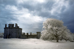 Ruínas do castelo de Caerlaverock, Scotland Fotos de Stock Royalty Free