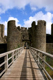 Ruínas do castelo de Caerphilly, Wales. Imagens de Stock
