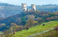 Ruínas do castelo de Chervonohorod (Ucrânia) Fotos de Stock Royalty Free