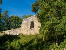 Ruínas do castelo de Lanckorona foto de stock