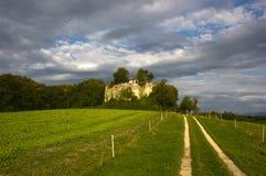Ruínas do castelo de Neu-Schauenburg, Frenkendorf Foto de Stock