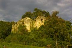 Ruínas do castelo de Neu-Schauenburg, Frenkendorf Fotografia de Stock