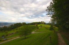 Ruínas do castelo de Neu-Schauenburg, Frenkendorf Imagem de Stock