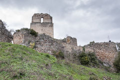 Ruínas do castelo de Ocio Fotos de Stock Royalty Free