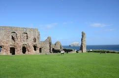 Ruínas do castelo de Tantallon Fotos de Stock