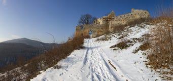 Ruínas do castelo de Topolcany fotografia de stock royalty free