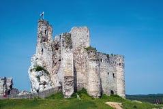 Ruínas do castelo de um cavaleiro fotos de stock