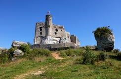 Ruínas do castelo em Mirow fotografia de stock royalty free
