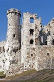 Ruínas do castelo em Ogrodzieniec, Poland imagens de stock