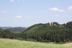 Ruínas do castelo em Prandegg, Áustria Imagens de Stock