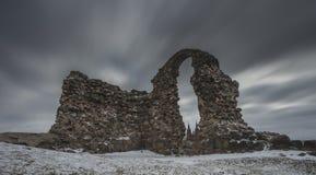 Ruínas do castelo em Rezekne, Letónia fotos de stock royalty free