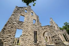 Ruínas do castelo do Ha Ha Tonka imagem de stock royalty free