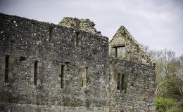 Ruínas do castelo no campo britânico, Anglesey, Gales norte, Reino Unido foto de stock royalty free