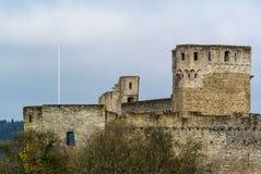 Ruínas do castelo no inverno foto de stock royalty free