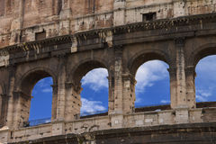 Ruínas do Colosseum em Roma, Italia Imagens de Stock Royalty Free