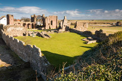Ruínas do convento de Lindisfarne Fotografia de Stock