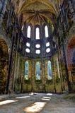 Ruínas do coro da igreja na abadia do la Ville de Villers, Bélgica foto de stock