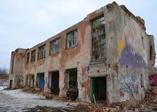 Ruínas do edifício Imagens de Stock