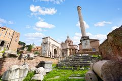 Ruínas do fórum romano Imagens de Stock