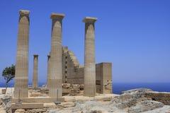 Ruínas do grego foto de stock royalty free