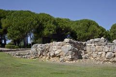 Ruínas do grego clássico em Empuries Fotografia de Stock
