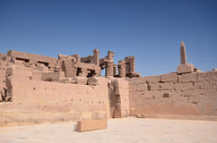 Ruínas do hrama de Karnak Steny Luxor Egypt Fotografia de Stock Royalty Free