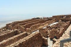 Ruínas do Masada antigo, distrito do sul, Israel foto de stock