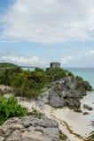 Ruínas do Maya de Tulum, México Fotografia de Stock