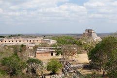 Ruínas do Maya de Uxmal em Iucatão, México fotografia de stock royalty free