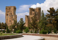 Ruínas do palácio de Ak-Saray, Shakhrisabz imagens de stock royalty free