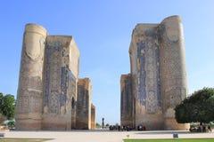 Ruínas do palácio de Aksaray de Timur em Shakhrisabz, Usbequistão Fotos de Stock Royalty Free