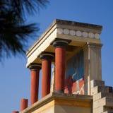 Ruínas do palácio de Knossos fotografia de stock