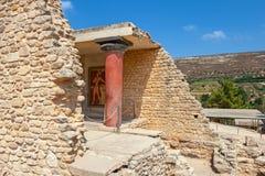 Ruínas do palácio de Knossos Crete, Greece Imagens de Stock Royalty Free
