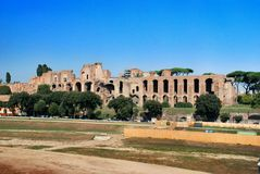 Ruínas do palácio do monte de Palatine em Roma, Italy Fotos de Stock