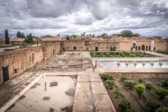 Ruínas do palácio em C4marraquexe Imagem de Stock