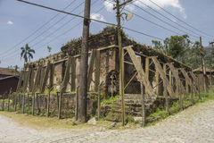 Ruínas do Serrano Atlético Clube - Paranapiacaba - Brasil fotografia de stock