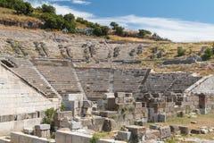 Ruínas do teatro antigo de Halicarnassus, agora Bodrum imagens de stock royalty free