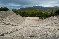 Ruínas do teatro do epidaurus, peloponnese, greece Fotos de Stock Royalty Free